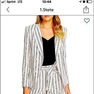 1.State Duet Modern Stripe Blazer